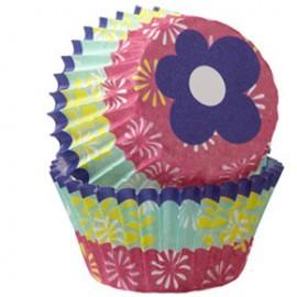 Cápsulas mini cupcakes Flores. 100 uds