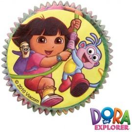 Cápsulas cupcakes Dora la Exploradora. 50 uds