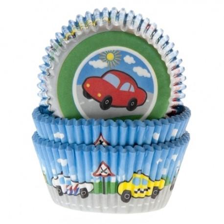 Cápsulas cupcakes Coches. 50 uds