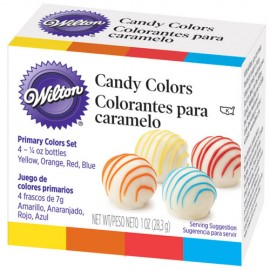 Colorantes para Caramelo Candy Colors. Set de 4