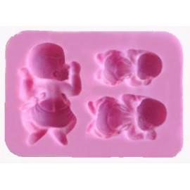 Molde de silicona Bebés