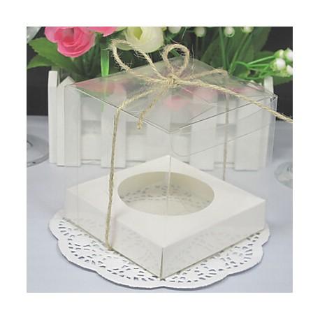 Caja transparente para 1 cupcake con inserto. Unidad