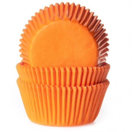 Cápsulas cupcakes Naranjas. 50 uds