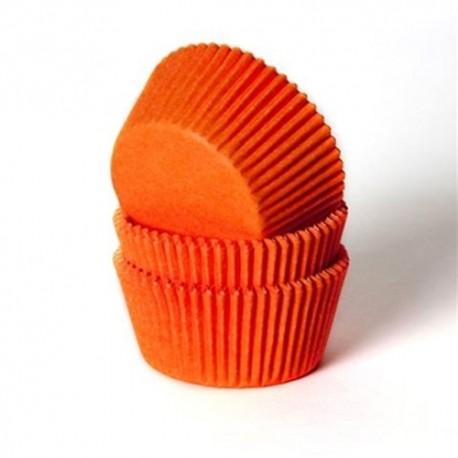 Cápsulas cupcakes. Color Naranja. 50 uds