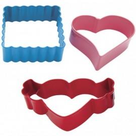 Cortadores San Valentín. Set de 3