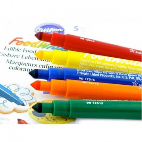 Set de rotuladores de tinta comestible. 5 uds