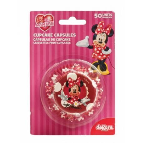 Cápsulas cupcakes Minnie. 50 uds