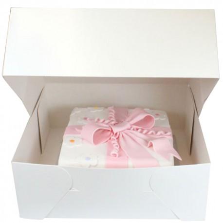 Caja blanca para tartas 22 cm. Unidad