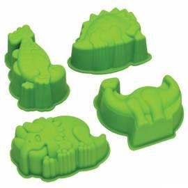 Moldes de silicona Dinosaurios. Set de 4