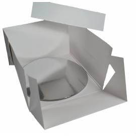 Caja blanca para tartas con base 20,5 cm. Unidad