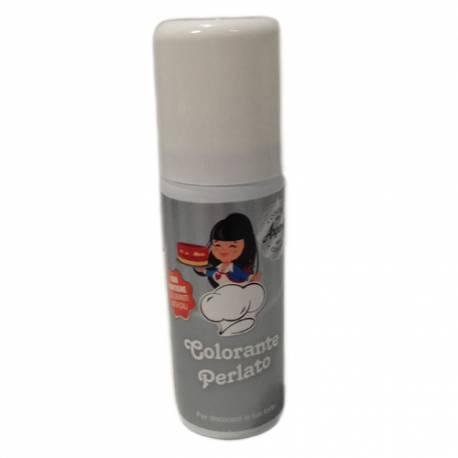Colorante en spray 50 ml. Color plata perlado