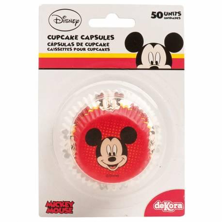 Cápsulas cupcakes Mickey. 50 uds