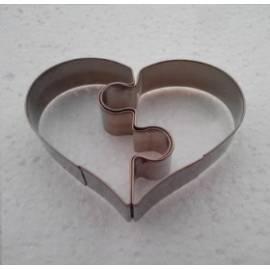 Cortadores Corazón Puzzle. 2 piezas