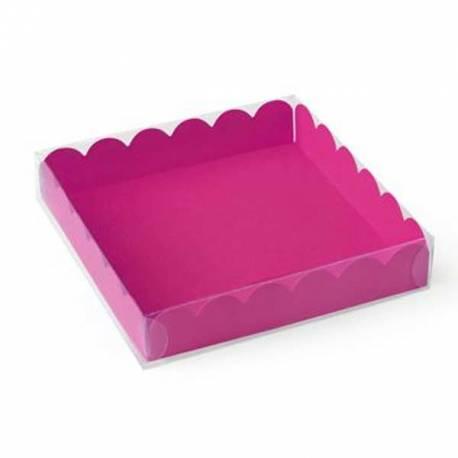 Caja con tapa transparente 8x8 cm. Varios colores a elegir