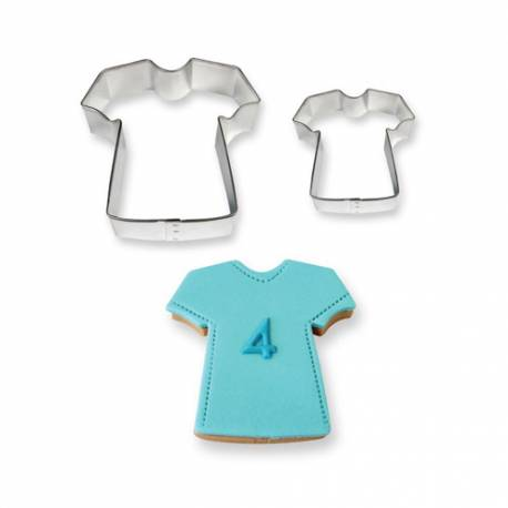 Cortadores de galletas Camiseta. Set de 2
