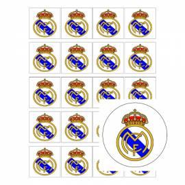 Escudo de fútbol Real Madrid- Impresiones en papel comestible