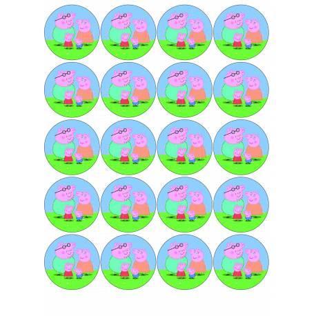 Peppa Pig - Impresiones en papel comestible