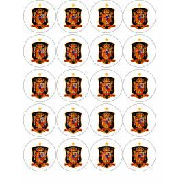 Escudo de fútbol Selección española - Impresiones en papel comestible