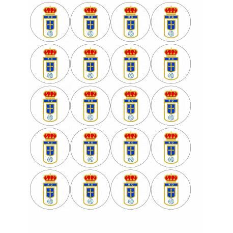 Escudo de fútbol Real Oviedo - Impresiones en comestible