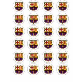 Escudo de fútbol FC Barcelona - Impresiones en papel comestible