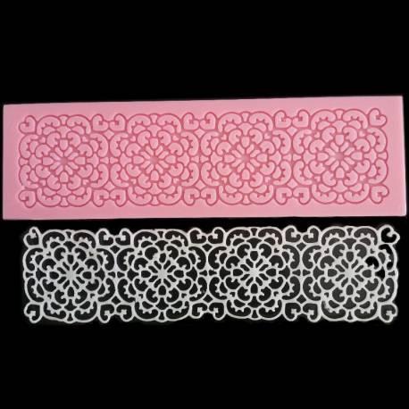 Molde rectangular para encajes de azúcar