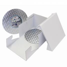 PME Caja Tarta y Bandeja Redonda (3mm) 22,5x22,5x15 cm