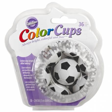 Wilton ColorCups Cápsulas para Hornear Futbol 36 u.