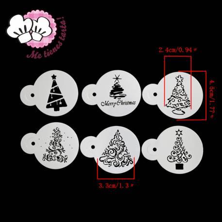 Set 6 Plantillas Navidad para cupcakes