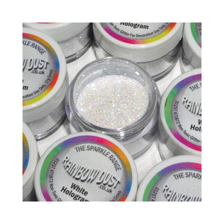 RD Purpurina Decorativa Gama Sparkle Hologram -Blanco-