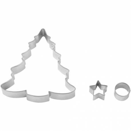 Set 3 Cortadores Arboles Navidad Wilton