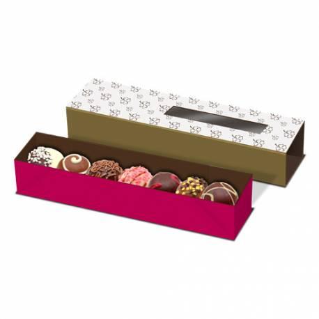 Caja Para Macarons Y Bombones ( 24 X 4.6 X 4.1 Cm. )