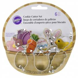 Set Cortadores Mini Galletas Cesta de Pascua, 6 u. Wilton