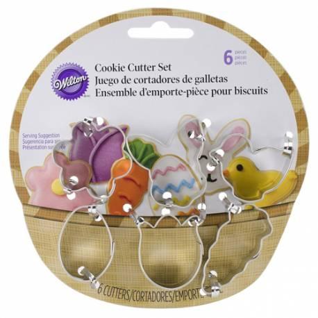 Set Cortadores Mini Galletas Cesta de Pascua, 6 u. Wilton
