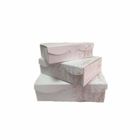 Caja blanca para galletas 20 cm. Unidad