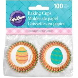 Wilton Mini Cápsulas Hornear Eggclectic Huevos De Pascua, 100u.