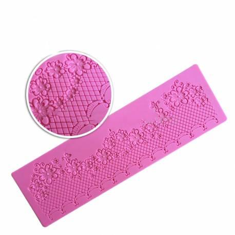 Molde rectangular para encajes de azúcar - puntilla