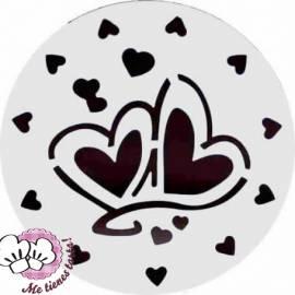 Plantilla corazones para tartas