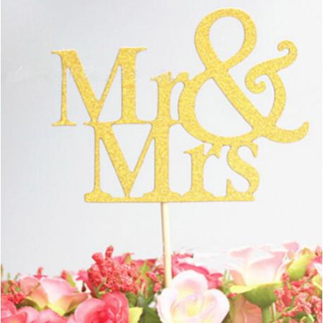 Topper Mr&Mrs - oro