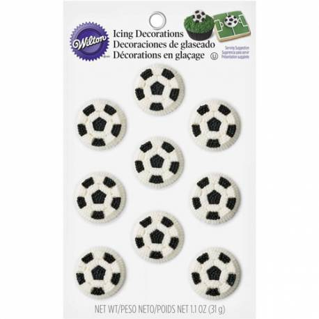 Balones de Fútbol de Azúcar (12 u.)