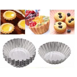 Capsulas - Molde metálico Cupcake 10.Und