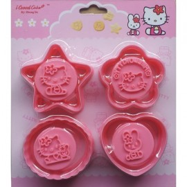 Cortadores Hello Kitty con marcador. Set de 4
