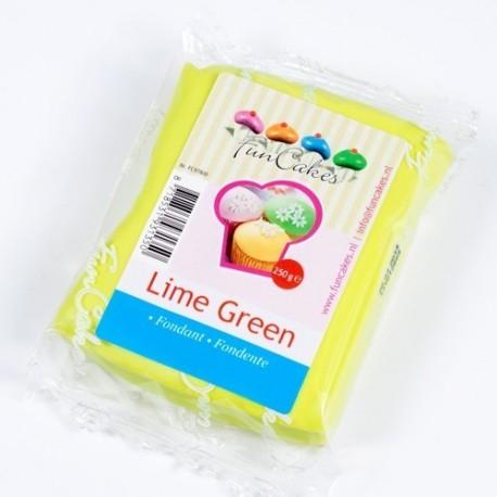 Fondant Funcakes Verde Lima 250 gr