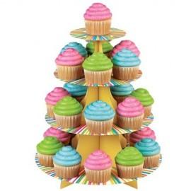 Expositor Arcoiris Wilton para 25 cupcakes