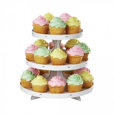 Expositor blanco Wilton para 24 cupcakes