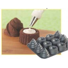 Molde 6 cupcakes rellenos Nordic Ware