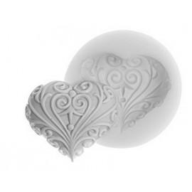 Molde de silicona Corazón con arabescos