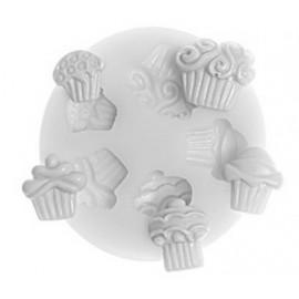 Molde de silicona Mini cupcakes
