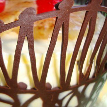 Paso a paso – Corona de chocolate para tartas